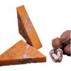 Cheddar cheese with walnuts